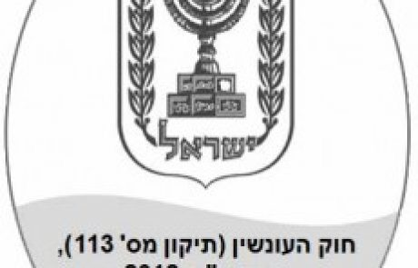 תיקון 113 לחוק העונשין- הבניית שיקול הדעת בענישה